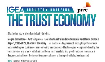 IGEA Industry Briefing – PwC presents the latest Outlook Entertainment and Media Report