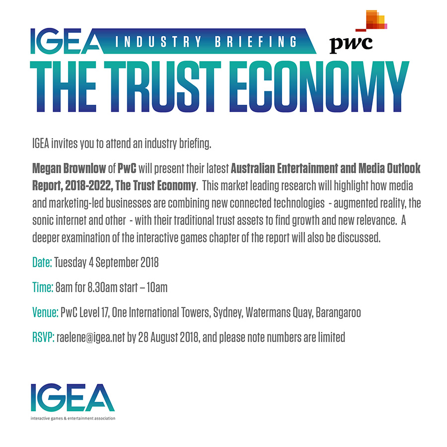 IGEA Industry Briefing - PwC presents the latest Outlook