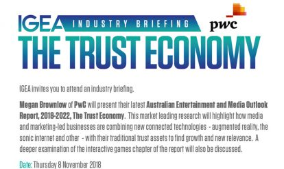 IGEA Industry Briefing – Thursday 8 November, Melbourne