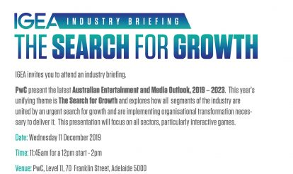 IGEA Industry Briefing-PwC presents The Search for Growth- Adelaide